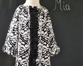 Tuxedo Mini DRESS - Michael Miller - Damask - Pick the size Newborn up to 14 Years - by Boutique Mia