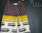BOYS - Samurai PANTS - Echino - Bus - 2 Years of Fashion - Pick the size Newborn to 8 Years by Boutique Mia