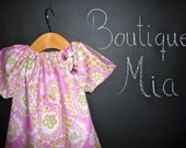 CHILDREN - Peasant Mini Dress -  Amy Butler - Pick the size Newborn up to 12 Years - by Boutique Mia