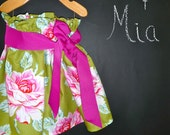 Paper Bag SKIRT and SASH - Heather Bailey - Pick the size Newborn up to 12 Years by Boutique Mia
