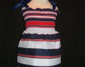 4TH OF JULY AND MEMORIAL DAY SHABBY A LA CHIC DRESS AND OR TOP 3-12-24 MONTH 2T3T4T BOUTIQUE MIA