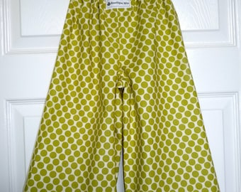 Samurai Pants - Amy Butler - Lime Dots - 2 Years of Fashion - Pick the size Newborn up to 8 Years by Boutique Mia