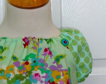 Peasant Mini Dress with the 'EXTRA TOUCH' - Amy Butler - Love - Pick the size Newborn up to 12 Years - by Boutique Mia
