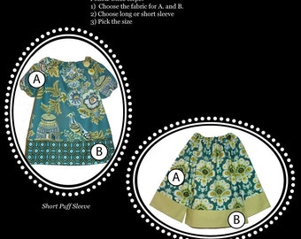 Design your own Boutique Mia 'Long or Short Sleeved TUNIC TOP' - Pick the size Newborn up to 12 Years - by Boutique Mia