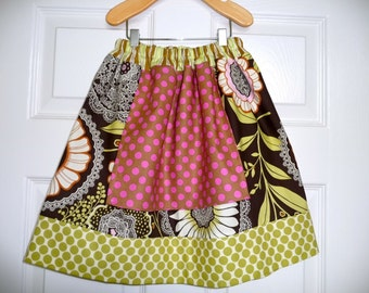 CHILDREN -Alice in Wonderland Skirt - Amy Butler - Pick the size Newborn up to 12 Years - by Boutique Mia