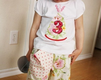 Samurai Pants - Heather Bailey - 2 Years of Fashion - Pick the size Newborn up to 8 Years by Boutique Mia