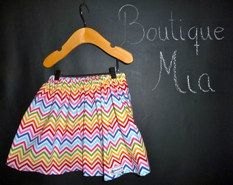 BUY 2 get 1 FREE - Skirt - Riley Blake - Zig Zag - Pick the size Newborn up to 14 Years by Boutique Mia