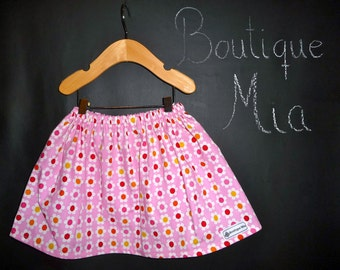 BUY 2 get 1 FREE - Skirt - Riley Blake - Flowers - Pick the size Newborn up to 14 Years by Boutique Mia