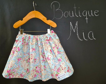 BUY 2 get 1 FREE - Skirt - Tanya Whelan - Paisley - Pick the size Newborn up to 14 Years by Boutique Mia