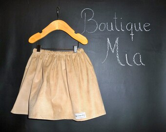 BUY 2 get 1 FREE - Skirt - Camel Corduroy - Pick the size Newborn up to 14 Years by Boutique Mia