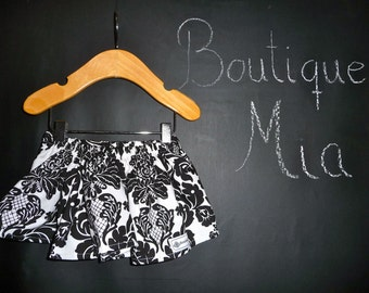 BUY 2 get 1 FREE - Skirt - Michael Miller -  Delovely Damask - Pick the size Newborn up to 14 Years by Boutique Mia