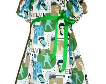 A-line Dress - Elvis - Pick the size Newborn up to 12 Years - by Boutique Mia