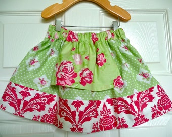 CHILDREN -Alice in Wonderland Skirt - Tanya Whelan - Pick the size Newborn up to 12 Years - by Boutique Mia