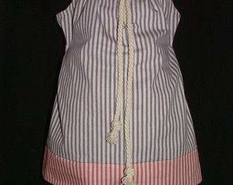Pillowcase DRESS - Nautical Theme - 2 Years of Fashion - Pick the size Newborn up to 12 Years - by Boutique Mia