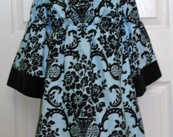 A-line DRESS - Damask - Pick the size Newborn up to 12 Years - by Boutique Mia