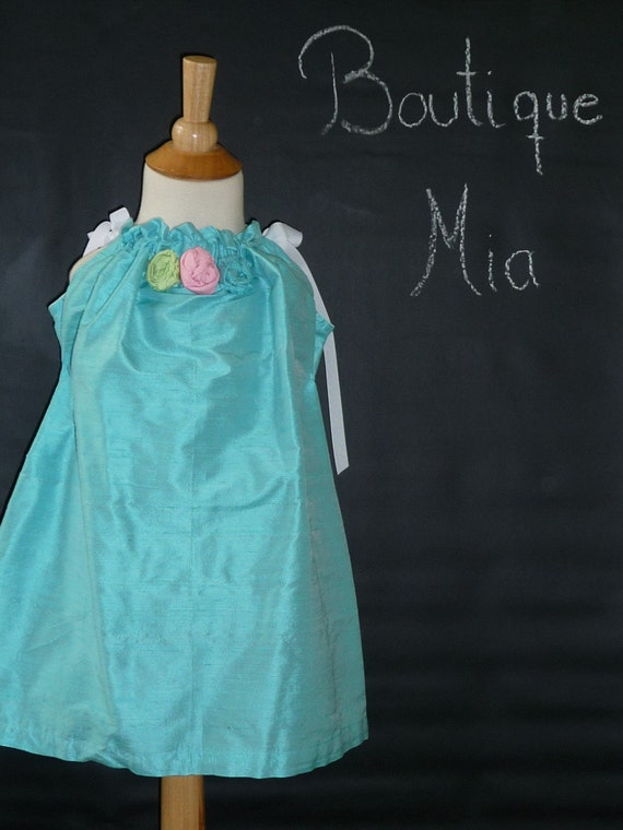 CHILDREN -Pillowcase Dress - Dupioni Silk - 2 Years of Fashion - Pick the size Newborn up to 12 Years - by Boutique Mia