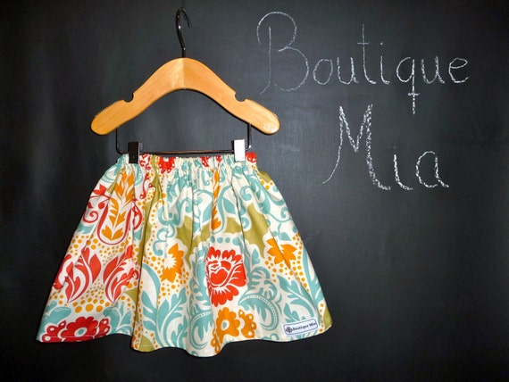 BUY 2 get 1 FREE - Skirt - Sandi Henderson - Secret Garden - Pick the size Newborn up to 12 Years by Boutique Mia