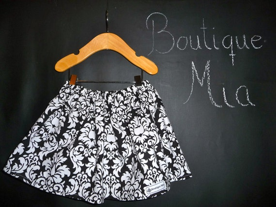 BUY 2 get 1 FREE - Skirt - Michael Miller -  Damask - Pick the size Newborn up to 14 Years by Boutique Mia