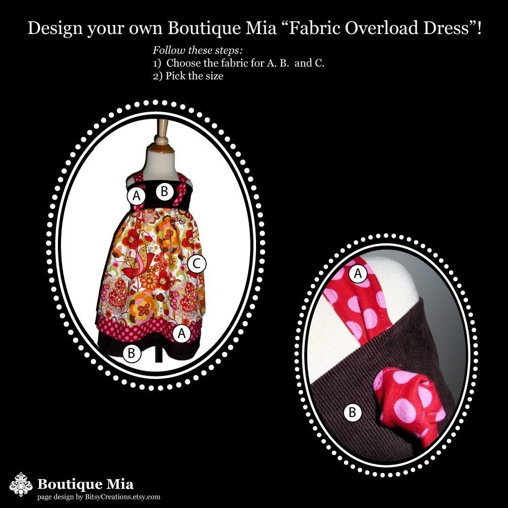 Make Your Own Dress Design: Design Your Own 'Fabric Overload DRESS' Pick The