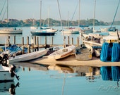 Boats in the Harbor Photographic Framed Metallic Print 20 x 24""