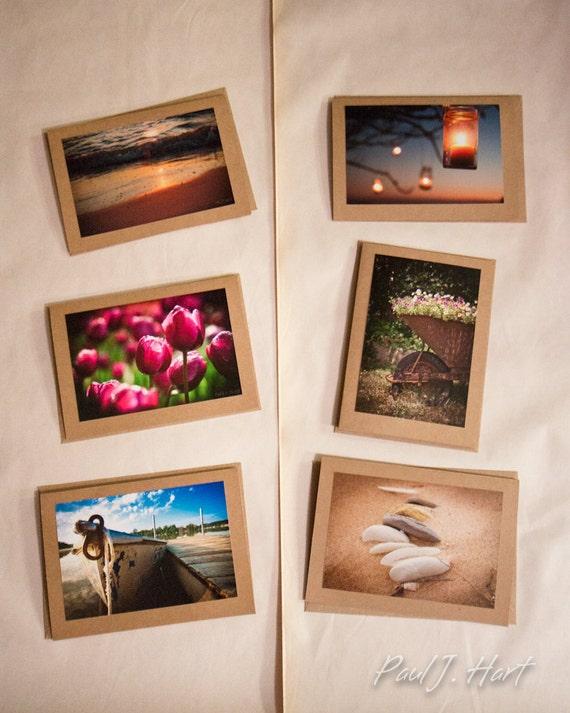 Original photographic cards assorted — 6 pack