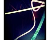 Abstract Lights 5x5 Metallic Photograph - iPhone Photography