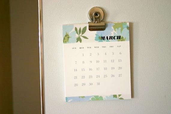 Printable 2010 Fabric Stash Calendar