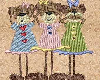 The Three Bears Machine Embroidery Designs