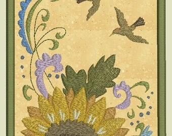 Flower & Bird Scenes Machine Embroidery