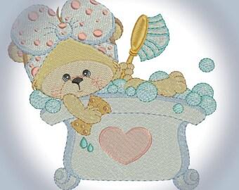 Bears Will be Bears Machine Embroidery