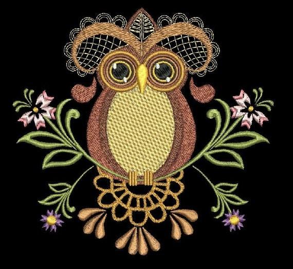 Amazing Owls Machine Embroidery Set