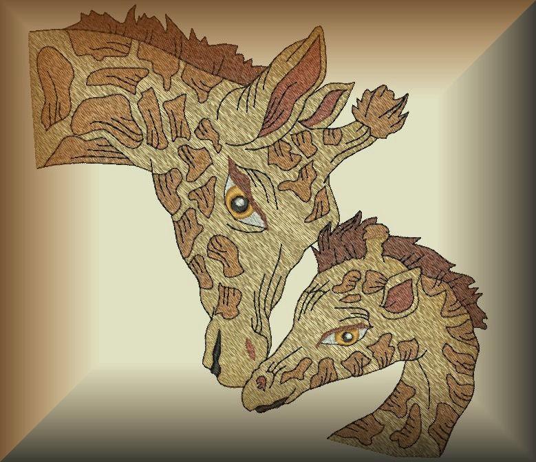 Realistic Giraffes Machine Embroidery Designs
