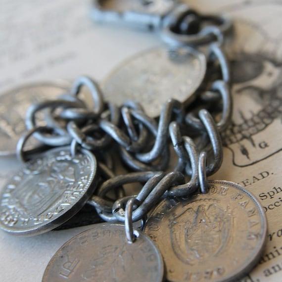 Gypsy Coin Bracelet Heavy Metal Version