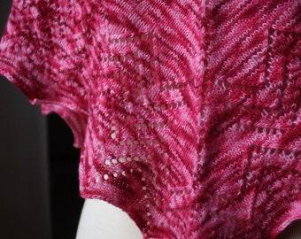Knitting Pattern for Leila Shawl and Shawlette