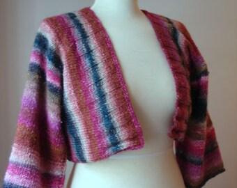 Knitting Pattern for Halfobi Cardigan Shrug Bolero