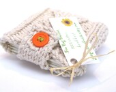 Tea Bag Tote - Hand Knit Natural