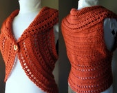 Crochet Pattern Circle Shrug or Vest Ladies Vest PDF Digital Crochet Pattern