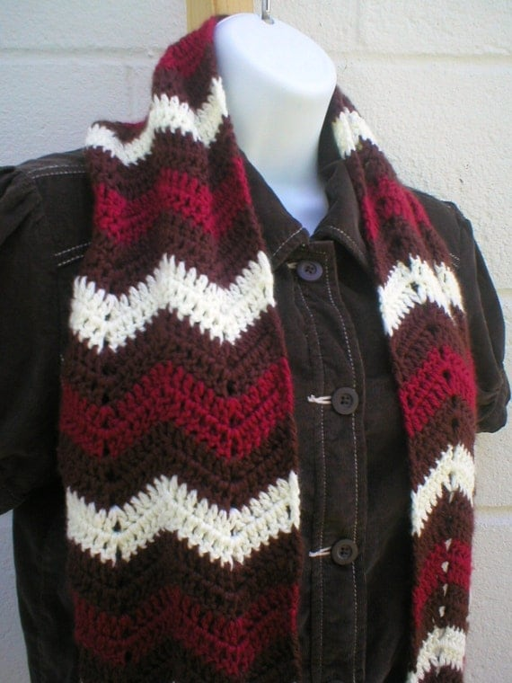 Crochet Scarf Patterns Zigzag : Zig Zag Scarf Crochet Pattern PDF by LazyTcrochet on Etsy