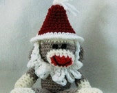 PDF - Santa Sock Monkey Amigurumi Crochet Pattern - INSTANT DOWNLOAD