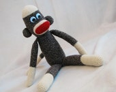 PDF - Big Crocheted Sock Monkey Amigurumi Crochet Pattern - INSTANT DOWNLOAD