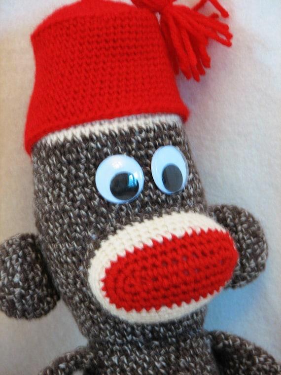 Amigurumi Sock Monkey Crochet Pattern : PDF Big Crocheted Sock Monkey Amigurumi Crochet Pattern