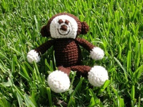 PDF - Dangles the Monkey Amigurumi Crochet Pattern - INSTANT DOWNLOAD