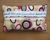 Cute as a Button Tissue Holders- Pink dots