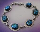 Blue Bean Sunburst Bracelet (8 inch \/ 21 cm)