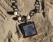 Square Names Mommy Stamped Necklace
