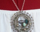 RESERVED FOR SUSAN Vintage Sky - Sterling Necklace