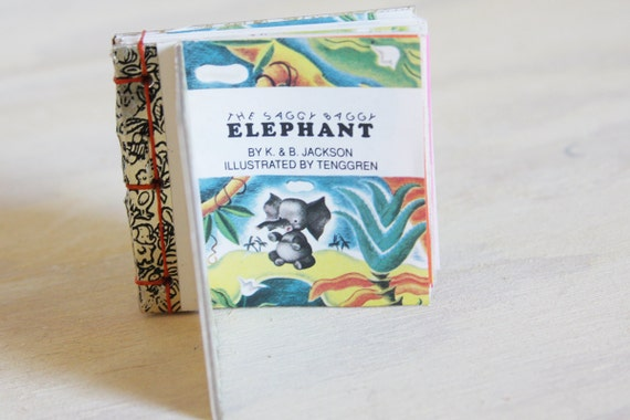 Vintage Golden Book Recycled Journal - The Saggy Baggy Elephant