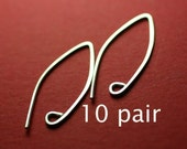 SEWA10- Sterling Silver Almond Earwires 10 pair