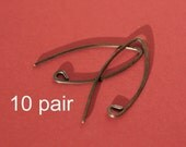 SEWAO10- Sterling Silver Almond Earwires Oxidized 10 pair