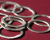 BSRR4\/18- Sterling Silver Brushed  Rings 4ct 18mm -Handmade